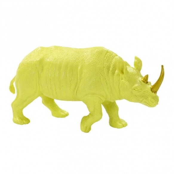 Fluorescent Floral Yellow Rhino