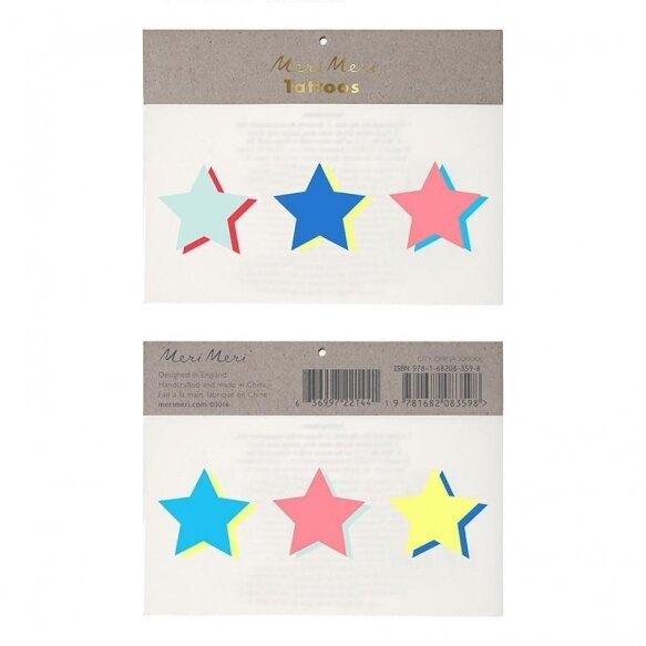 Neon Stars Tattoos
