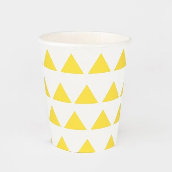 8 CUPS - YELLOW TRIANGLES