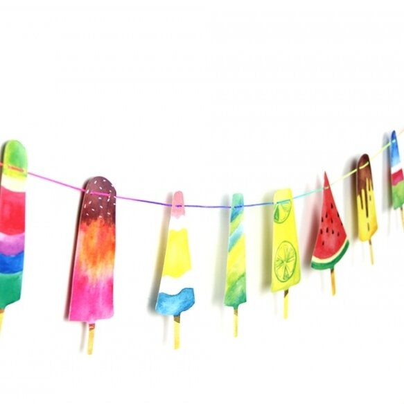 Colorful Popsicle banner