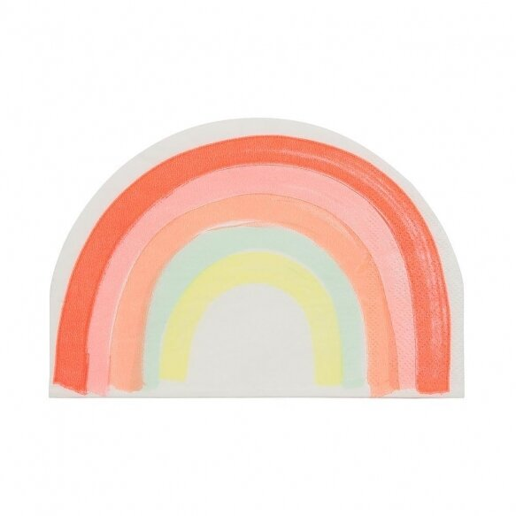 20 Rainbow Pattern Napkins