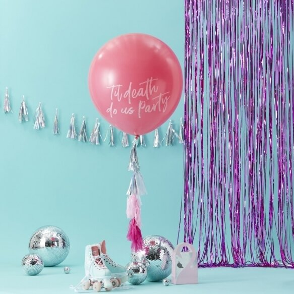 GIANT PINK TIL DEATH DO US PARTY BALLOON KIT