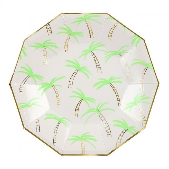 8 Small Palm Trees Plates
