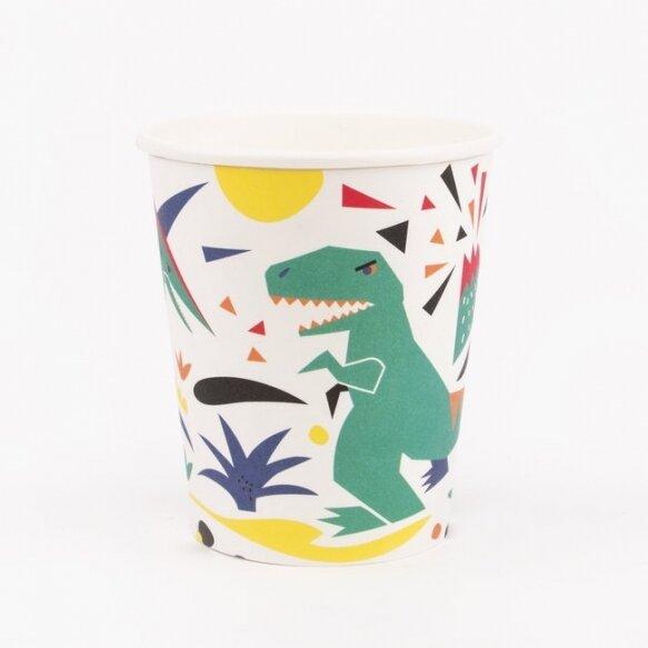 8 PAPER CUPS - DINOSAUR