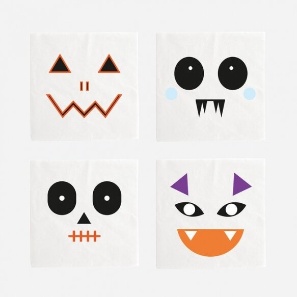 20 SMALL NAPKINS - MINI MONSTERS