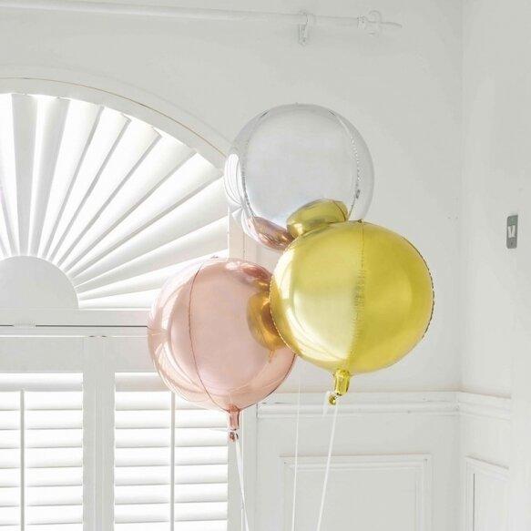 Metallic Orb Balloon Gold