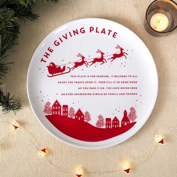 Santa Giving Plate