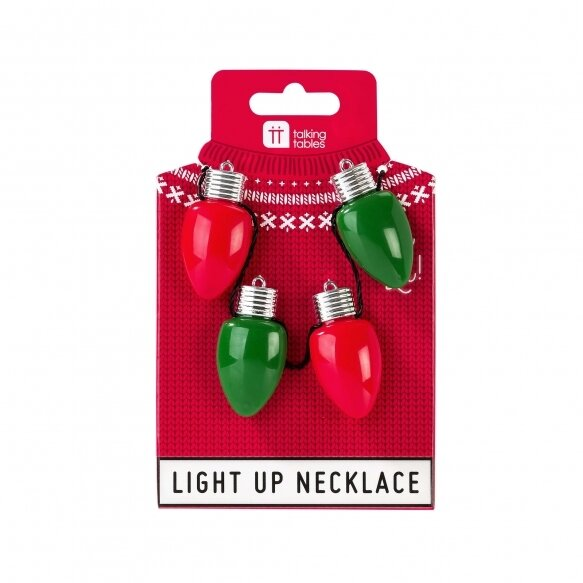 Christmas Entertainment Light Bulb Necklace