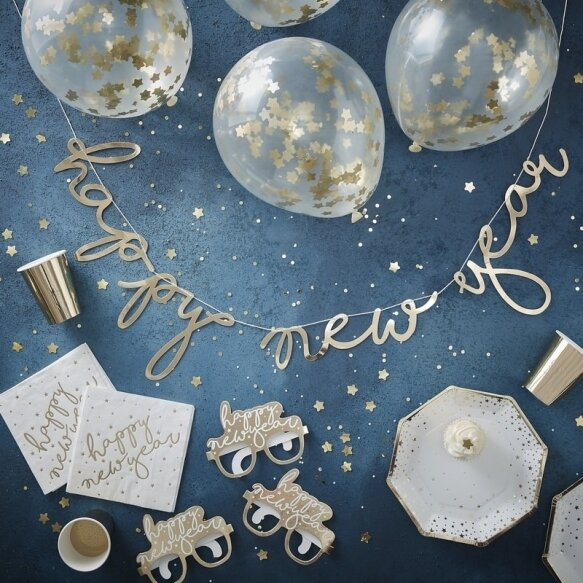 GOLD FOILED NEW YEAR PARTY IN A BOX