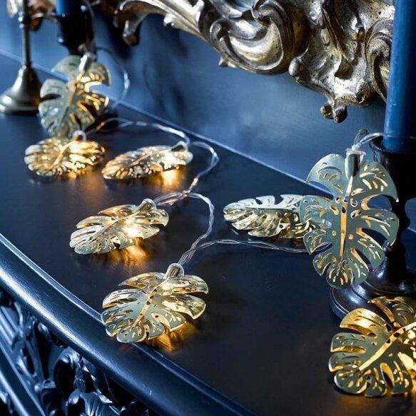 Emporium Gold Leaf String Lights