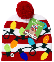 Light up Pom Pom Hat