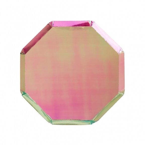 8 Metallic Pink Side Plates