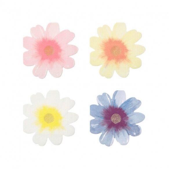 16 Flower Garden Napkins