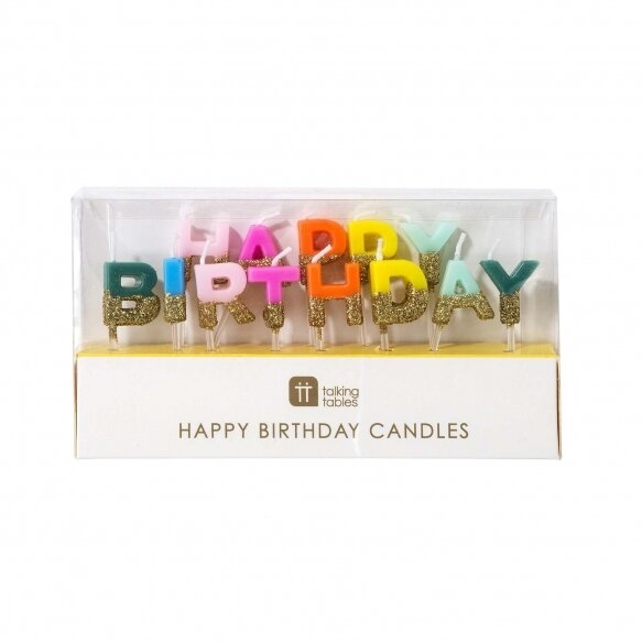 13 Bright Happy Birthday Candles