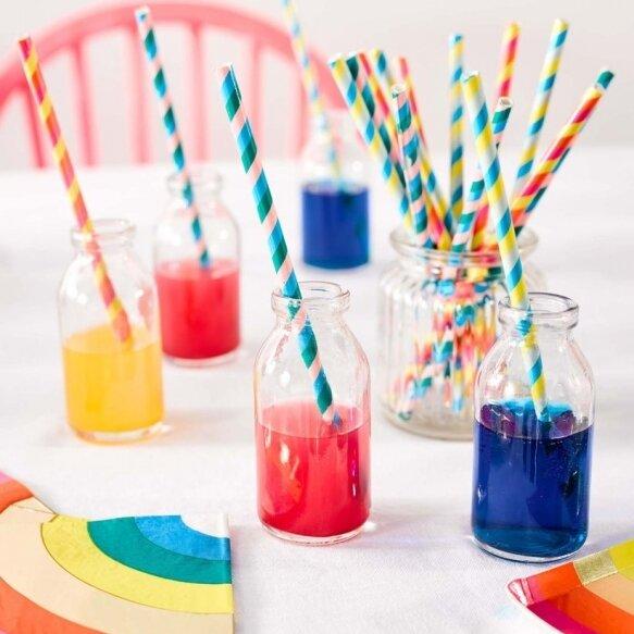 30 Brights Rainbow Straws