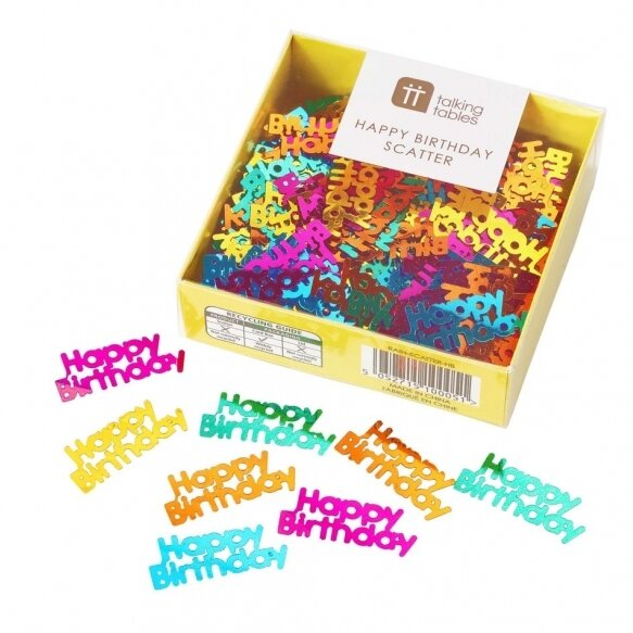 Brights Rainbow Happy Birthday Confetti