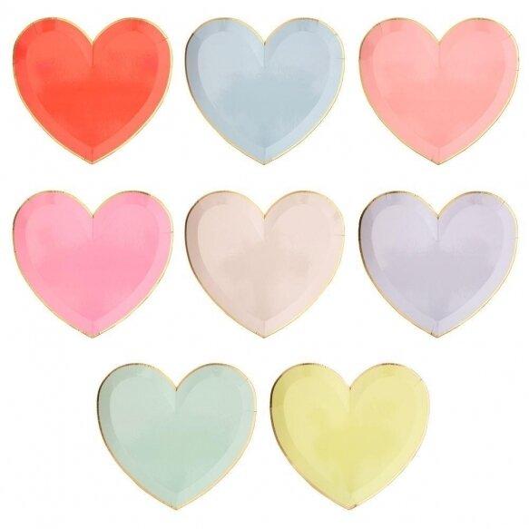 8 Rainbow Palette Heart Large Plates