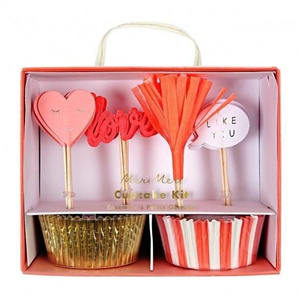 24 Valentine Cupcake Kit