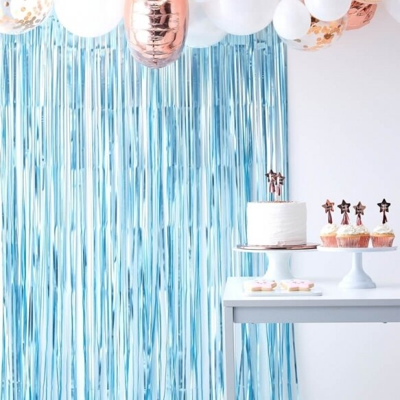 MATTE BLUE CURTAIN BACKDROP