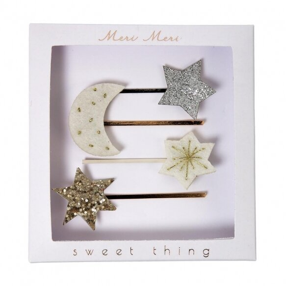 4 Moon & Star Hair Slides