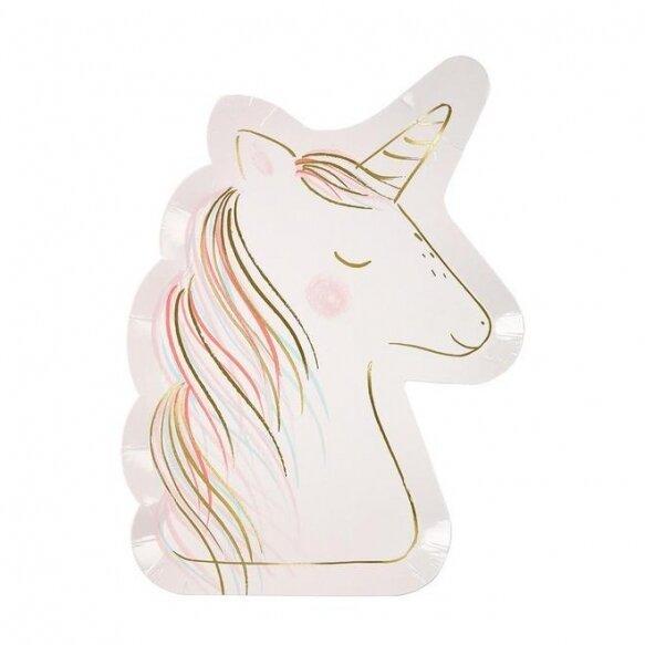 8 Unicorn Pastel Plates