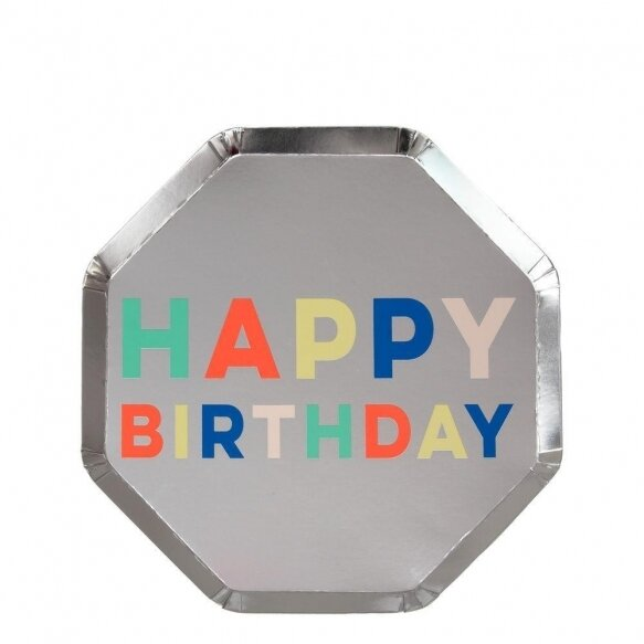 8 Birthday Palette Side Plates