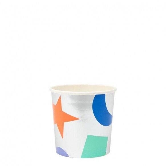 8 Silver Geometric Tumbler Cups