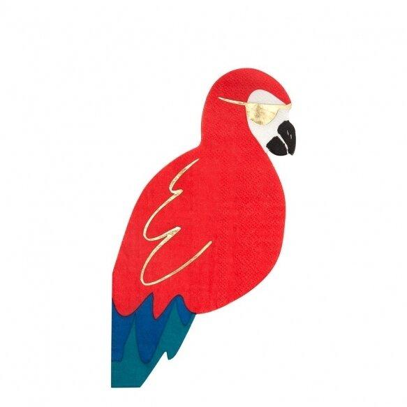 16 Pirate Parrot Napkins