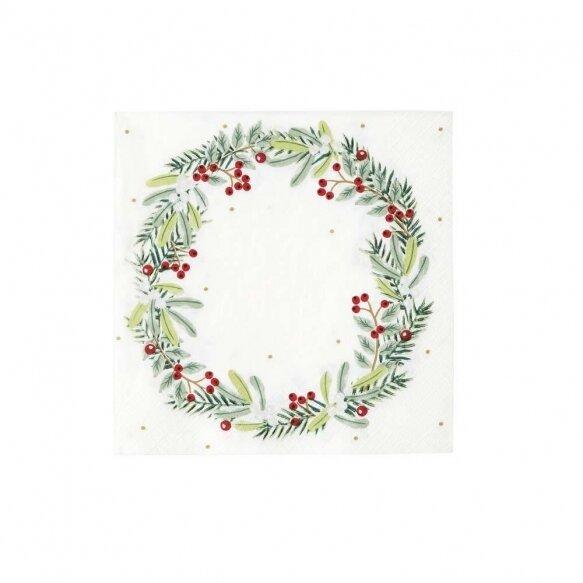 20 Botanical Berry Wreath Napkin