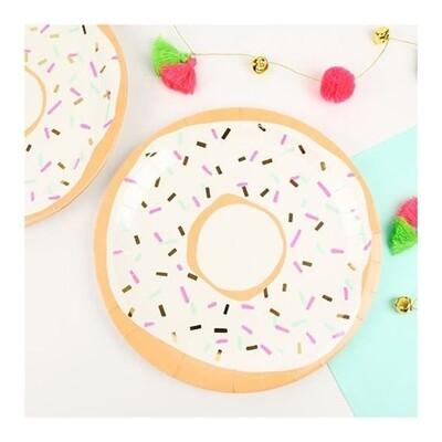 8 Foiled Doughnut Plates