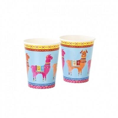 8 Boho Llama Cups