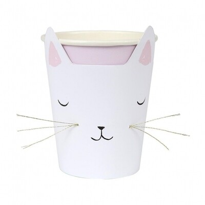 8 Cat Party Cups