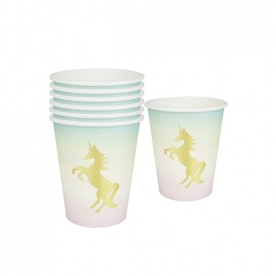 12 Unicorns Pastel Paper Cups