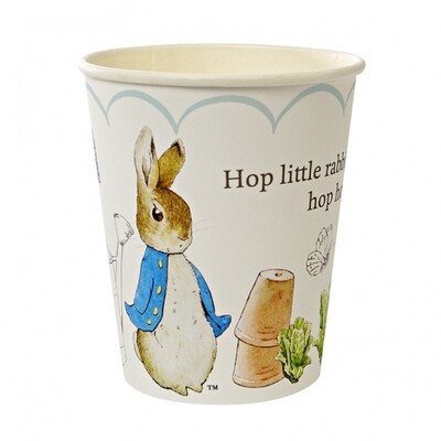 12 Peter Rabbit Scallop Pattern Party Cups