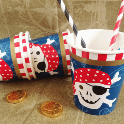 12 Ahoy There Pirate Cups