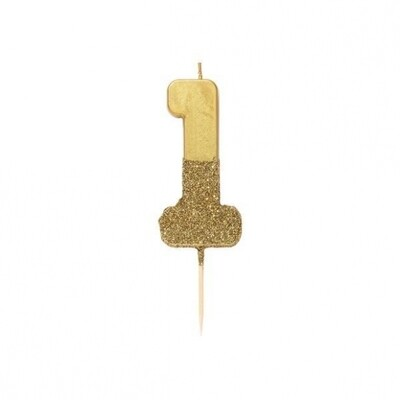 Glitter Candle Gold -1
