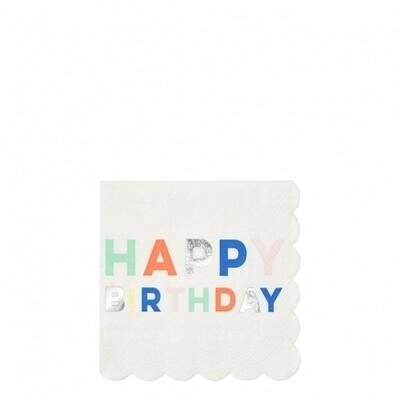 16 Birthday Palette Small Napkins
