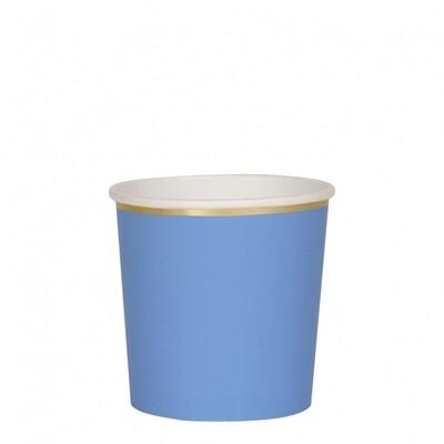 8 Bright Blue Tumbler Cups