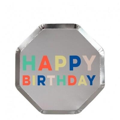 8 Birthday Palette Side Plates