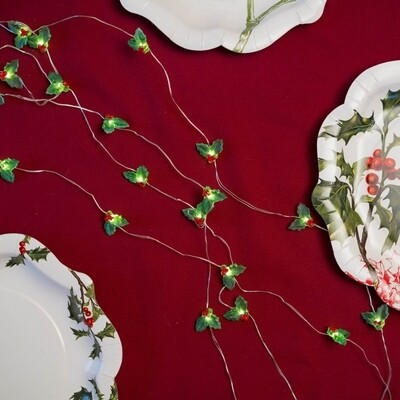 Botanical Holly String Lights