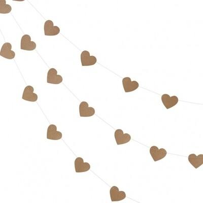 Heart Kraft Bunting