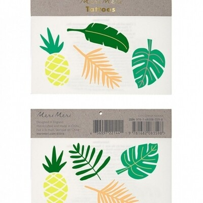 Tropical Leaves Tattoos