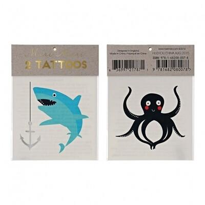 Sea Creatures Tattoos