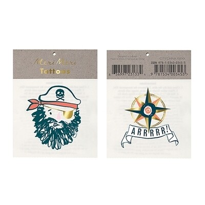 Bearded Pirate Tattoos