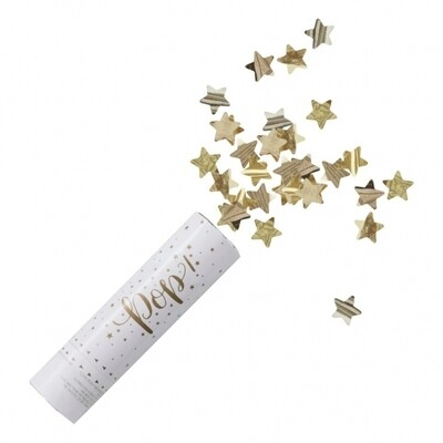 Gold Compressed Air Confetti