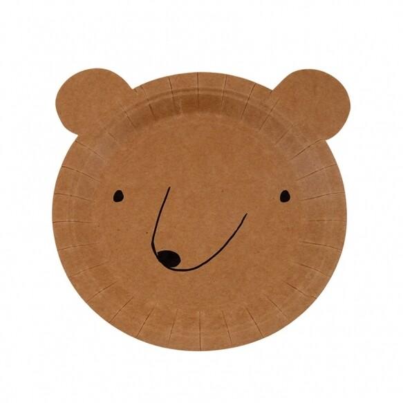 12 Small Bear Plates