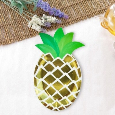 6 Paper Plates- Pineapple Plates