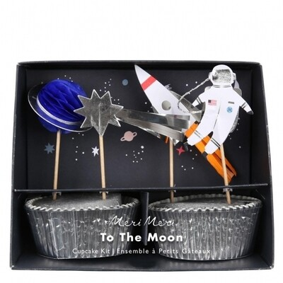 24 To The Moon Cupcake Kit