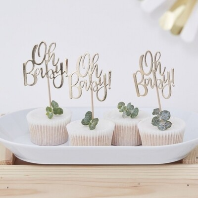12 OH BABY! Cupcake Toppers
