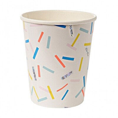 8 Paper cups - Sprinkles Party Cups